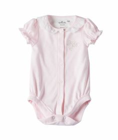 Baby Girl Short Sleeve Body Suit  Pink made of 100% soft brushed cotton | Hallmark Baby Clothes