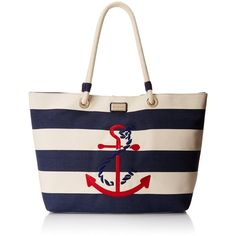 Tommy Hilfiger Rope Travel Tote (931.295 IDR) ❤ liked on Polyvore featuring bags, handbags, tote bags, anchor purse, travel totes, nautical tote bags, embroidered tote bags and anchor tote