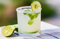 A margarita is a cocktail consisting of tequila, triple sec and lime, lemon juice.interesting things that you maybe didn't know about margarita cocktail. Cocktail Margarita, Cucumber Margarita, Cocktail Drinks, Fun Drinks, Yummy Drinks, Cocktails, Beverages, Margarita Mix, Yummy Food