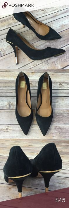 Dolce Vita suede metallic heels Worn a couple times. Great condition.  Super comfy. Dolce Vita Shoes Heels