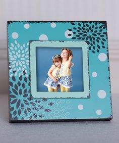 Look at this Light Blue Flower Frame on #zulily today!