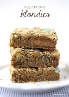 Reeses peanut butter blondies