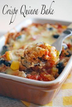 Crispy Quinoa Bake // The Live-In Kitchen #vegetarian #casserole