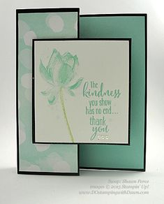 Sale-A-Bration Lotus Blossom swap card shared by Dawn Olchefske #dostamping #stampinup (Shawn Perez)