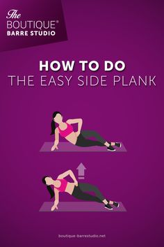 Work out at home to get toned muscles and lose weight. This exercise will help you to engage your abs and strengthen your core. Get Toned, Side Plank, Barre, At Home Workouts, Muscles, Lose Weight, Abs, Training, How To Get