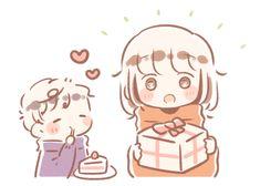 いつきゆう (@itsukiyu) / Twitter Story Drawing, Character Drawing, Cute Couple Wallpaper, Chibi Couple, Cute Anime Chibi, Character Design Animation, Cute Anime Couples, Cartoon Styles, Cute Drawings