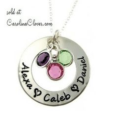 Carolina Clover: New Hand Stamped Necklace Designs