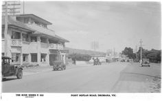 A few days of rest in Dromana - so here's a view of the main street from the early from the Dromana Hotel looking South. How times have changed! Main Street, Street View, Melbourne Victoria, Rest Days, Local History, Vintage Photographs, Back In The Day, Historical Photos, Old Photos