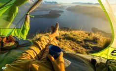 Morning Coffee by Chris  Burkard on 500px......Camping, Lake Wanaka,New Zealand