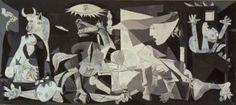 파블로 피카소  게르니카   Oil on canvas, 349.3 x 776.6 c m  레이나 소피아 국립미술관 소장     게르니카의 참상을 소재로 그린 그림  완성된 입체적 기법과 소재의 특성이 완벽히 조화된 대작이다. 그림의 크기에서 알 수 있듯이 피카소의 열정과 예술성이 표현된 대표작이다.