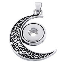 /_ Snap Chunk Button Silver Deer Head Design Charm For Ginger Snap Style Jewelry