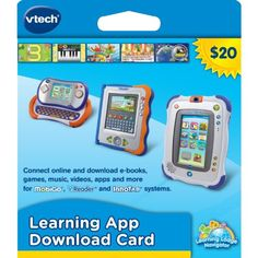 VTech Learning Application Download Card (works with InnoTab, MobiGo, and V.Reader) *** To view further, visit