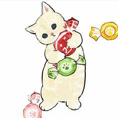 Kitten Drawing, Granny Square Crochet Pattern, Smileys, Pretty Art, Furry Art, Cat Art, Wall Prints, Bujo, Cats And Kittens