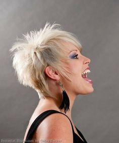 Would you be daring enough to try a short spikey 'do?   By Debra Becker