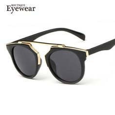 BOUTIQUE New Fashion Plastic Wrap Metal Cat Eye Glasses Vintage Sunglasses Women Men Brand Designer Coating sunglass gafas - cubic zirconia jewelry