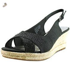 Karen Scott Dotti Women US 9 Black Wedge Sandal - Karen scott pumps for women (*Amazon Partner-Link)