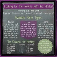 Contact me to book your Scentsy party!