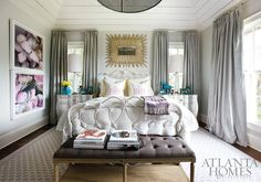 Lilac and gray bedroom