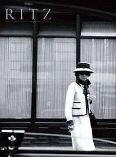 """Leave the past, future, present, take the time."" ~Coco Chanel photo in the 60's out of the RITZ in Paris, where she lived."