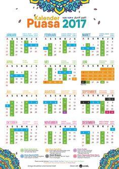 Gratis Downlaod Kalender Puasa 2017 By Syukr Just Love, Periodic Table, Faith, Quotes, Dan, Islamic, Printable, Calendar