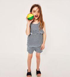 Image 1 of INDIGO STRIPED T-SHIRT from Zara
