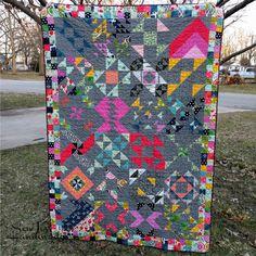 Sew Jess Handmade: Finishing WiP's : Cotton + Steel Modern HST Sampler