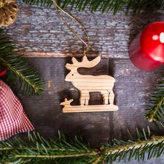 Deer Handmade Wooden Decoration  Make your Christmas magical with handmade wooden decorations from Choralis Wood Art!    Christmas Edition offers beautiful handmade decorations for the Festive Season in various designs and colours. Fourteen designs in natural colours will brighten up your Christmas Tree. We only use high Quality woods such as mountain maple, pinewood, spruce wood and cherry wood.The whole production is Hand made, including magical branded gift wrapping from Choralis Art. Christmas Rose, Christmas Deer, Christmas Ornaments, Handmade Christmas Decorations, Holiday Decor, Wooden Decor, Handmade Wooden, Wood Art, Woods