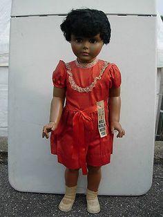 1960s-Plastic-34-1-2-Black-Girl-Walking-Doll-Patti-Playpal-type