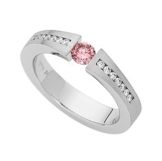 perfect for Valentines... C910 platinum tension set pink argyle diamond