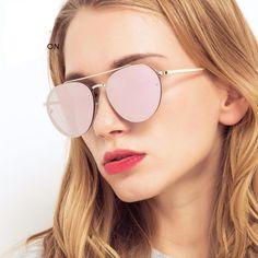 Rimless Pink Mirror Sunglasses; Women Double Bridge Pilot Shades; Metal Frame;   $17.88   #purplerelic #MirrorSunglasses #WomenSunglasses #WomenAccessories #accessories