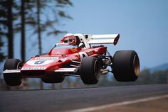 """Clay"" Regazzoni (SUI) (Scuderia Ferrari), Ferrari 312B2 - Ferrari 001 3.0 Flat-12  1971 German Grand Prix, Nürburgring Nordschleife  © Scuderia Ferrari"