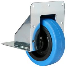 Penn-Elcom Recessed Caster w/Blue Wheel 330 lb.: Heavy duty recessed caster for large rack cabinets and bass bins. Tools And Toys, Diy Tools, Welding Projects, Woodworking Projects, Storage Hacks, Tool Organization, Garage, Heavy Equipment, Display Case