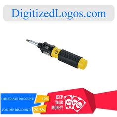 Get the All-in-One Screwdriver at only $7.92 instead of $8.80 plus more discount on volume purchase! Please visit DigitizedLogos.com for more information and inquiry. #DigitizedLogos #PromotionalItem #Discount #Screwdriver