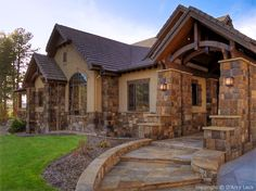 exterior home color scheme with stone | exterior, love stone colors and walkway | Future home (:
