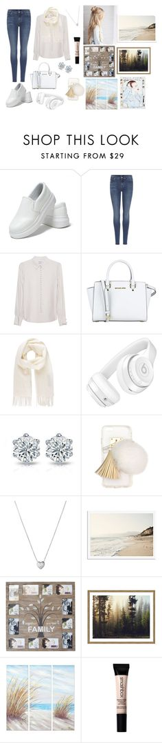 """""""A"""" by anjela-02 ❤ liked on Polyvore featuring 7 For All Mankind, Frame Denim, MICHAEL Michael Kors, Vivienne Westwood, Beats by Dr. Dre, Ashlyn'd, Links of London, New View, Yosemite Home Décor and Smashbox"""