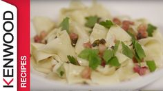 Learn how to prepare a delicious pappardelle using your Kenwood Kitchen Machine. For more information please visit the links below: MORE RECIPES FOR YOUR KEN. Pappardelle Recipe, Kitchen Machine, Allrecipes, Risotto, Potato Salad, Ethnic Recipes, Food, Videos, Cake