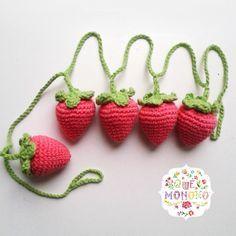 Guirnalda de Frutillas tejida en crochet