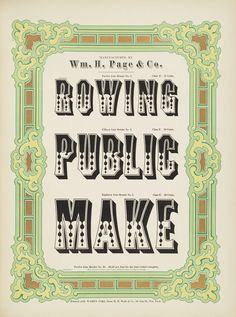 Columbia University Libraries: Specimens of chromatic wood type borders etc. manufactured by Wm. H. Page & Co.