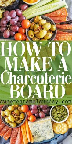 How to Make a Charcuterie Board with step by step photos and instructions. Ideas about display that are simple, easy and delicious! #easyrecipes #charcuterieboard #charcuterieplatter #entertaining…