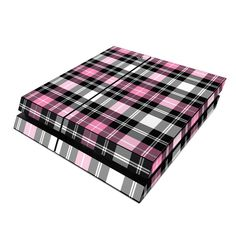 Pink Plaid DecalGirl Sony PS4 Console skins feature vibrant full-color artwork that helps protect the Sony PS4 Console from minor scratches and abuse without adding any bulk or interfering with the device's operation.