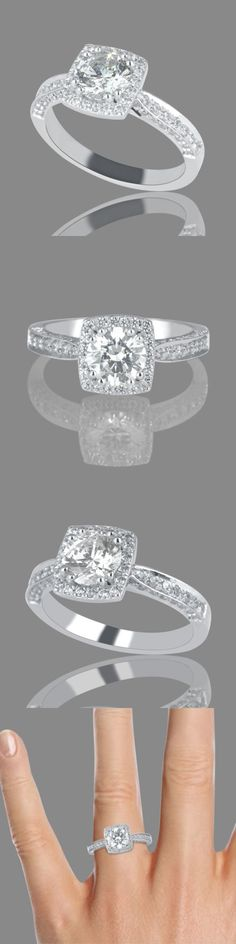 Diamond 164306: H Si1 Enhanced Round Cut Diamond Engagement Ring 2.70 Ct 18K White Gold Natural -> BUY IT NOW ONLY: $4410.4 on eBay!
