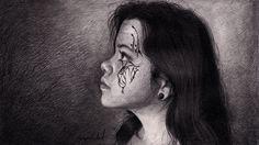 Speed Drawing Beautiful Girl Portrait Time Lapse - Портрет прекрасной де...