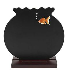 Fish Bowl Blackboard Stand by GANZ #zulilyfinds  $7.99 Retail  $14.00 item sold out  continue shopping This item is out of stock Notify me if stock becomes  Shaped like a charming fish bowl, this piece adds a lively touch to décor. The blackboard construction is perfect for writing short notes and lists.   8'' W x 7.5'' H Medium-density fiberboard Wipe clean Imported