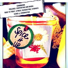 "SOY CANDLE--""Spice it Up""-- Cinnamon Red--4 oz.Fluted Votive Candle in Bright Red w/ Decorative Flower Tag by TextileandType on Etsy"