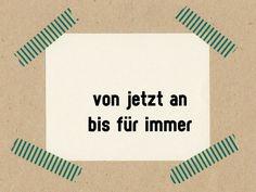 Sprüche & Slogans - von jetzt an bis für immer // Stempel 3 x 3 cm - ein Designerstück von im-wohnzimmer bei DaWanda