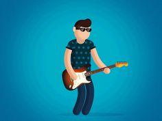 Rock musician animation