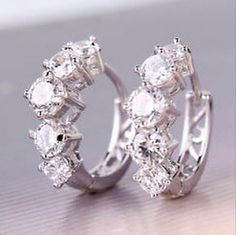 Brand New: White, Diamond Encrusted Sterling Silver Earrings. Jewelry @ Immortalmastermind.com ($329.95) @ http://immortalmastermind.mybigcommerce.com/brand-new-white-diamond-encrusted-sterling-silver-earrings/
