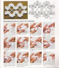 X join - Bruges Lace Crochet Lace Edging, Crochet Borders, Freeform Crochet, Crochet Chart, Thread Crochet, Irish Crochet, Crochet Doilies, Crochet Flowers, Crochet Stitches