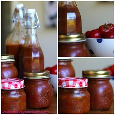 Saving the last of the summer tomatoes - a delicious spicy Tomato Chutney Spicy Tomato Chutney, Tomato Relish, Chilli Jam, Easter Breaks, Sauces, Summer Tomato, Australian Food, Home Canning, Canning Recipes