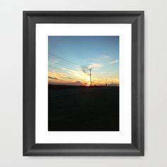 Skyline and Power lines Framed Art Print by Rachel Winkelman - $32.00